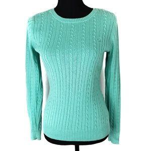 Izod Mint Green Crewneck Sweater Size Small